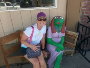 Debbie and the Frog!